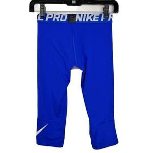 Nike Pro Boys Blue 3/4 Length Training Tights